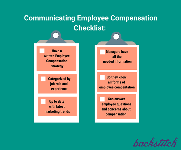 Use a checklist to train managers on communicating total compensation
