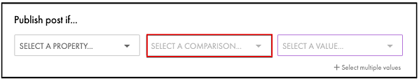 Build your comparisons