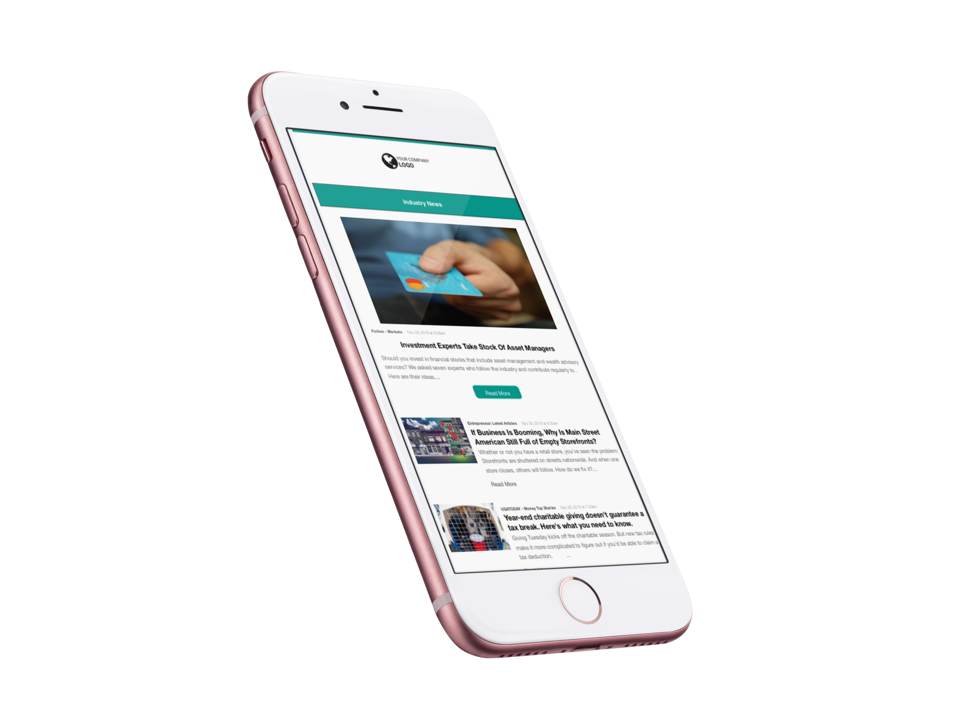 Build your newsletter to be available on a variety of devices including mobile