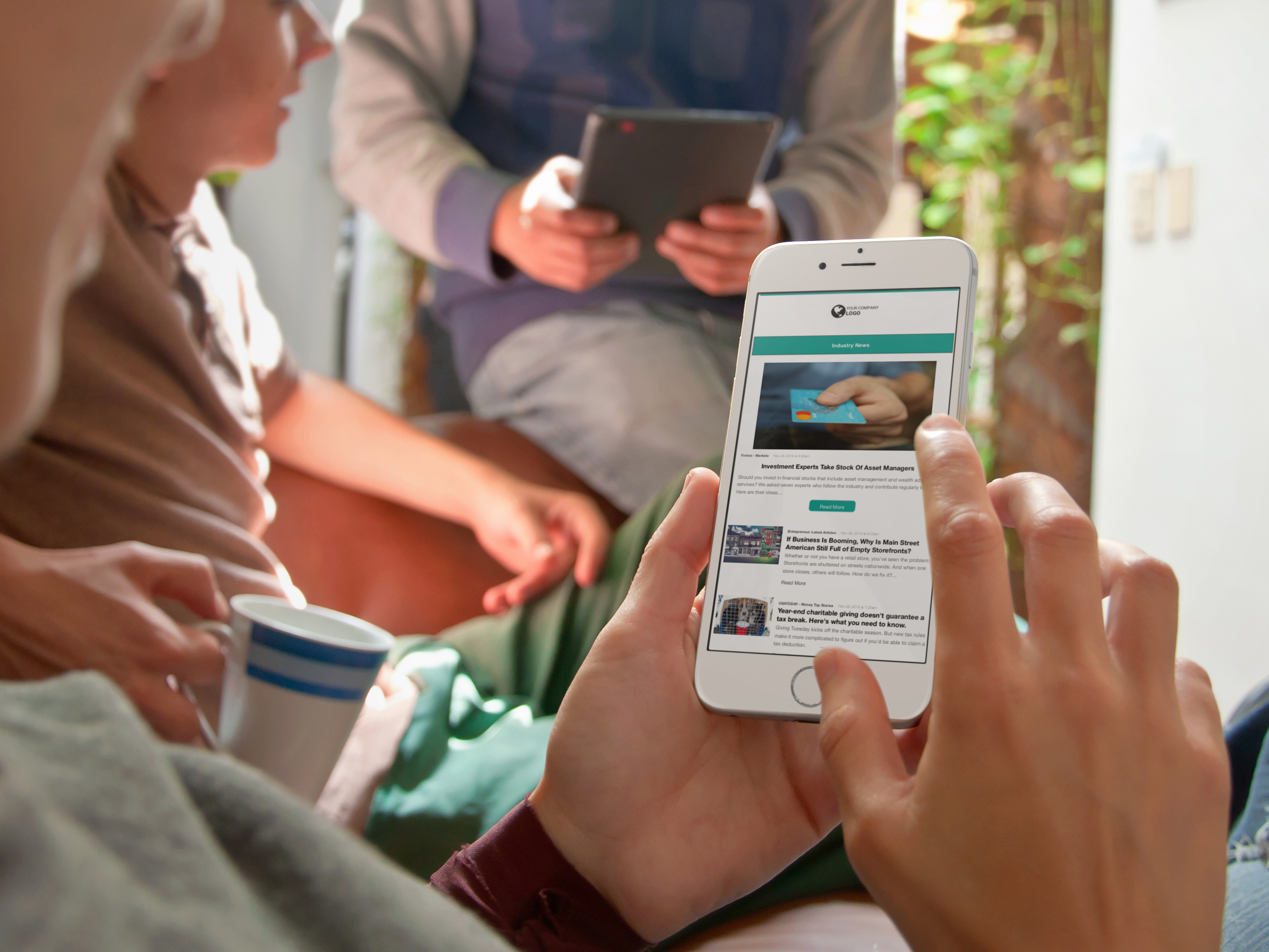 Your employees can view your internal content in any setting
