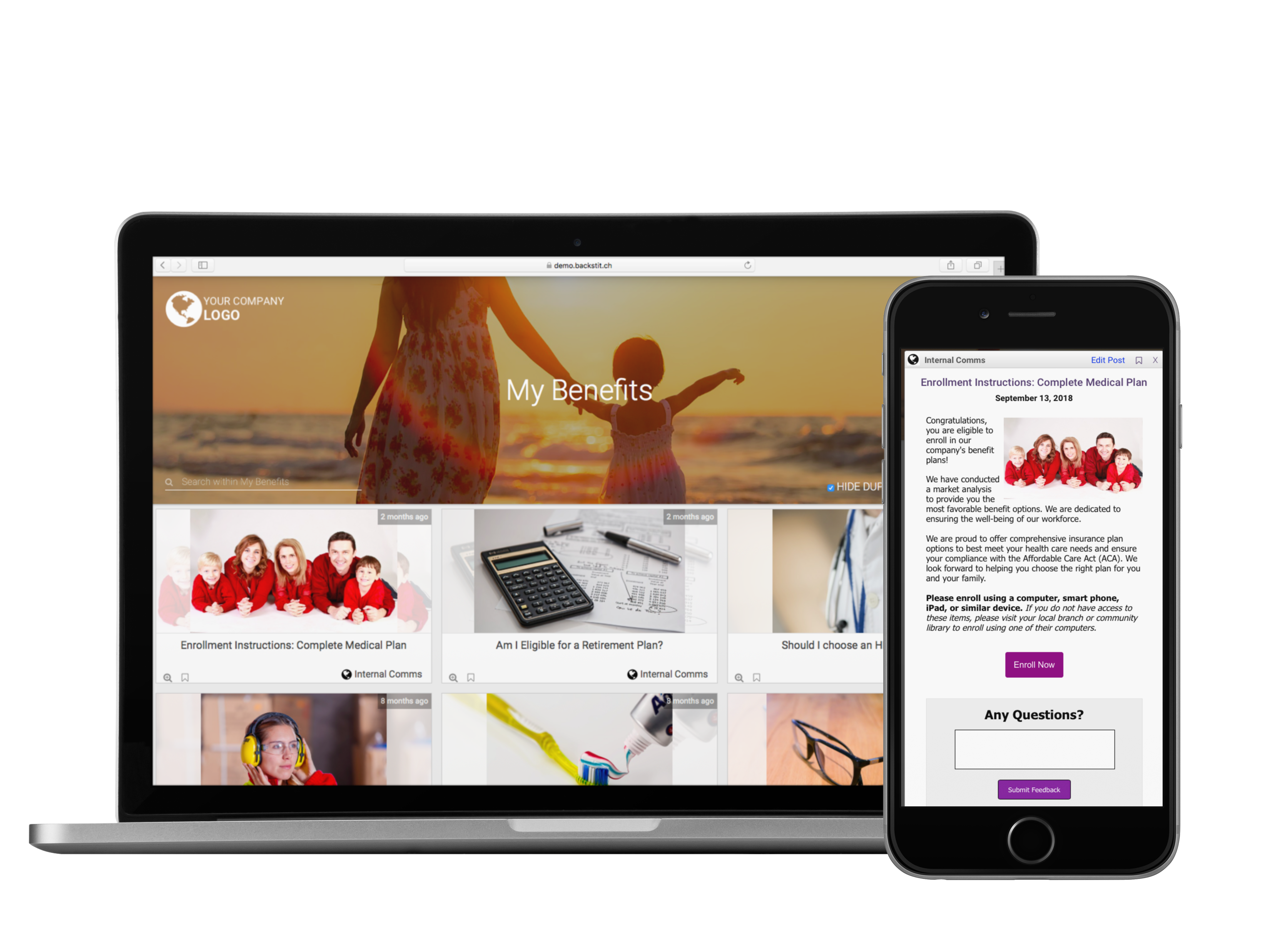 HR communications on your desktop and mobile app