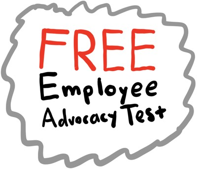 A logo saying Free Employe Advocacy Test
