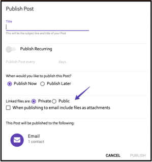 Publish Post