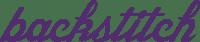 backstitch logo in purple